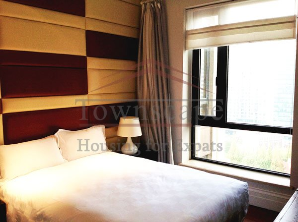 bedroom Shama Luxe apartment for rent near Nanjing East road and the Bund