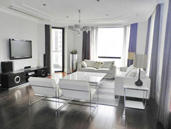 Luxury high floor renovated apartment with floor heating in c