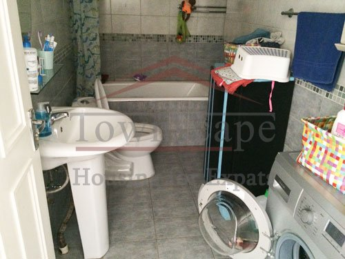 center of shanghai old apartment with terrace Big fully furnished apartment with terrace for rent