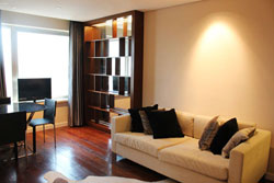 High floor apartment in Ascott on Huaihai Road for rent