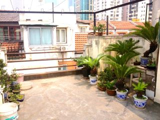 ikea style apartment shanghai Charming French Concession Lane House with roof terrace