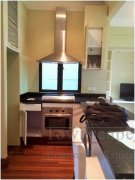 open kitchen Shanghai Spacious 1 bedroom apartment on Huaihai Road in FFC