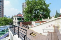 Shanghai roof terrace Luxurious Lane House for Rent in center of French Concession
