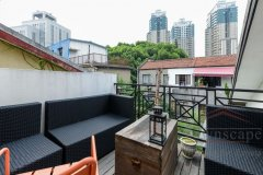 Shanghai Library 3br Sunny, high-ceiled Lane house unit w/ much outdoor space at Shanghai Library