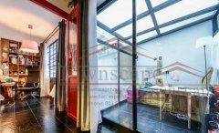 shanghai apartment with sunroom Well designed 1BR Lane House w/ Patio on Wuyuan Rd