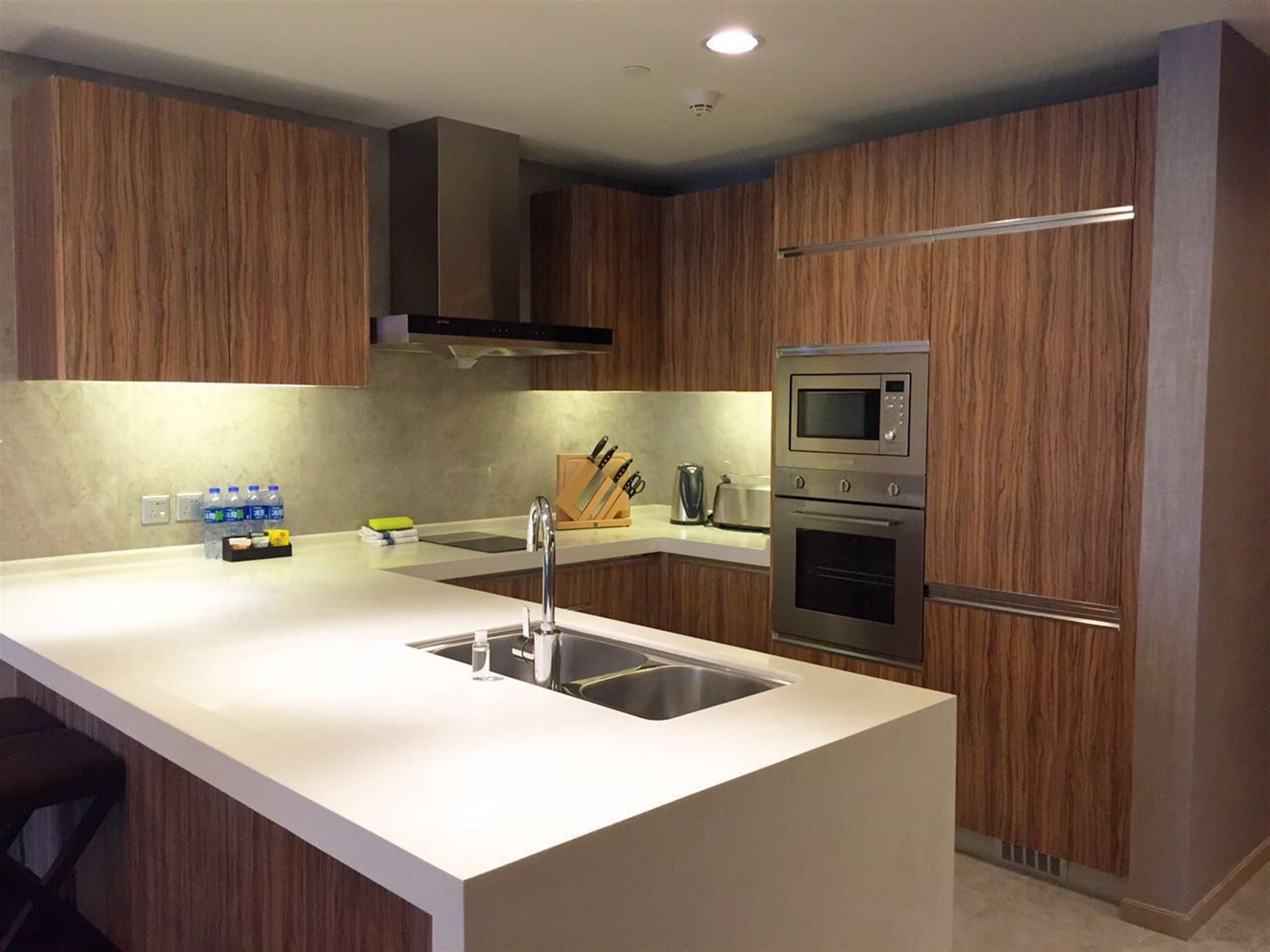 open kitchen Deluxe High-end 2BR FFC Service Apartments