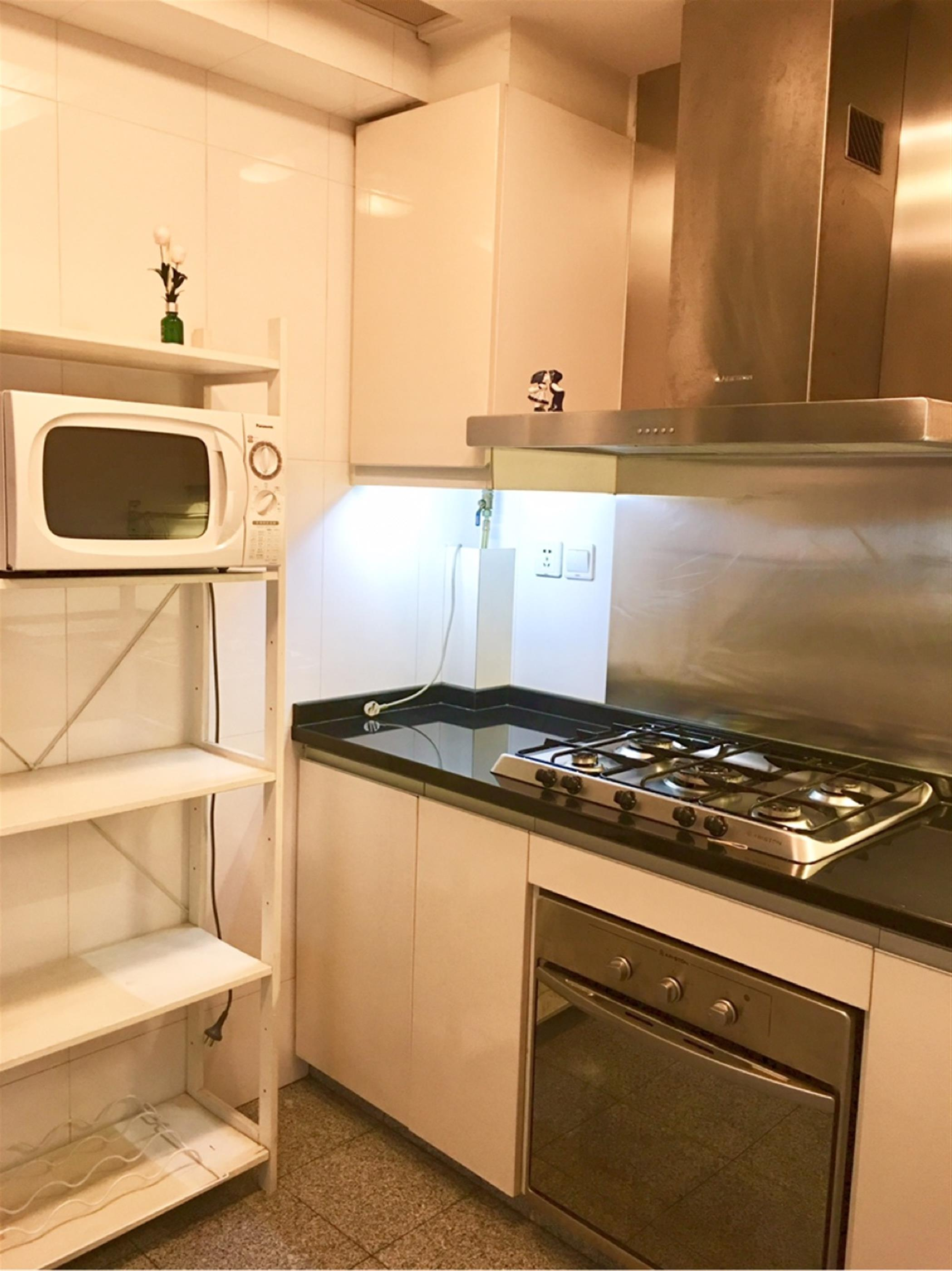 oven Large Comfortable 2BR One Park Ave Apt for Rent in Shanghai Jing'an Near LN 2/7