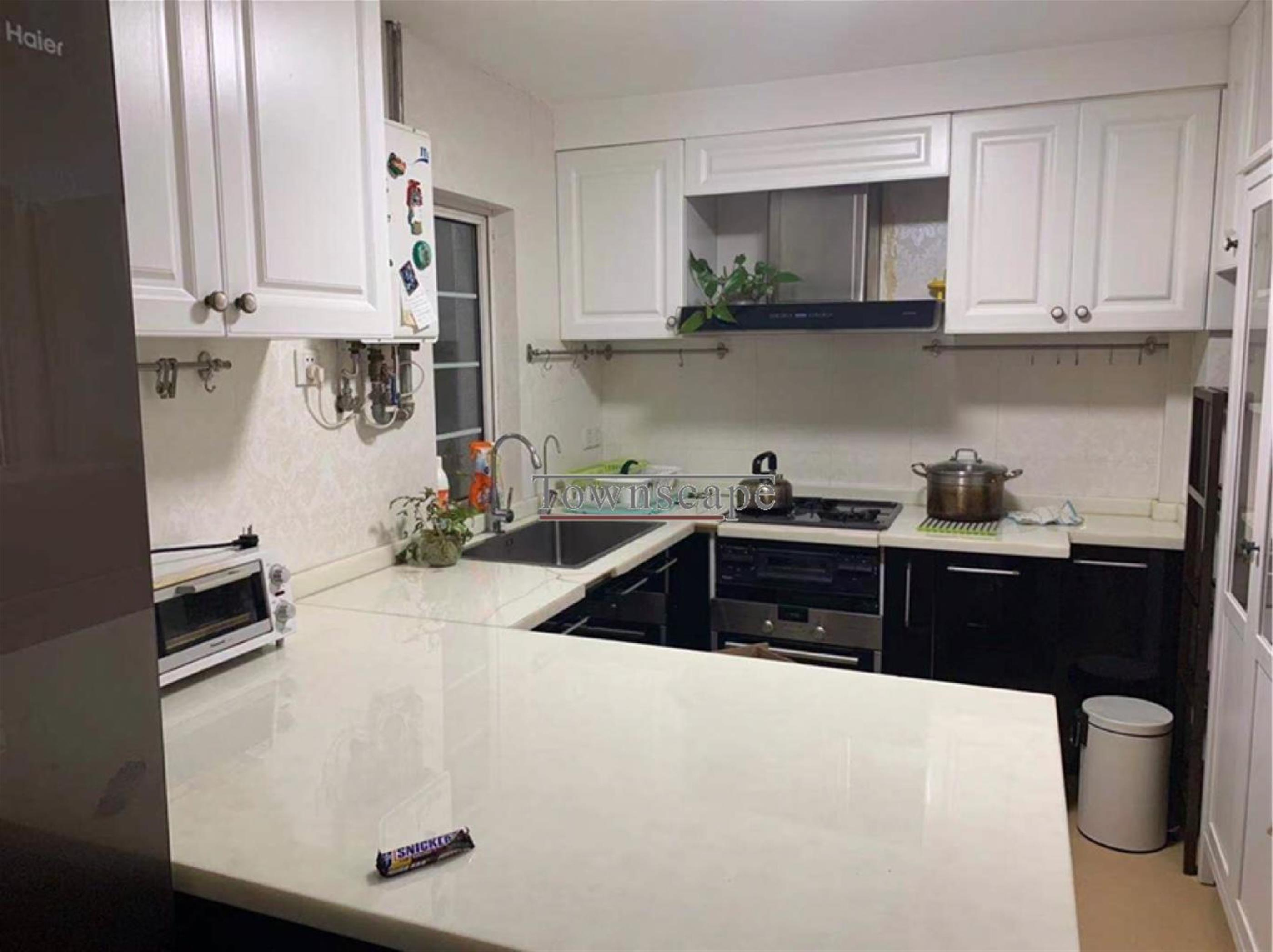 large kitchen Bright Spacious 2BR Nanjing W Rd Lane House Apt LN 2/12/13 for Rent