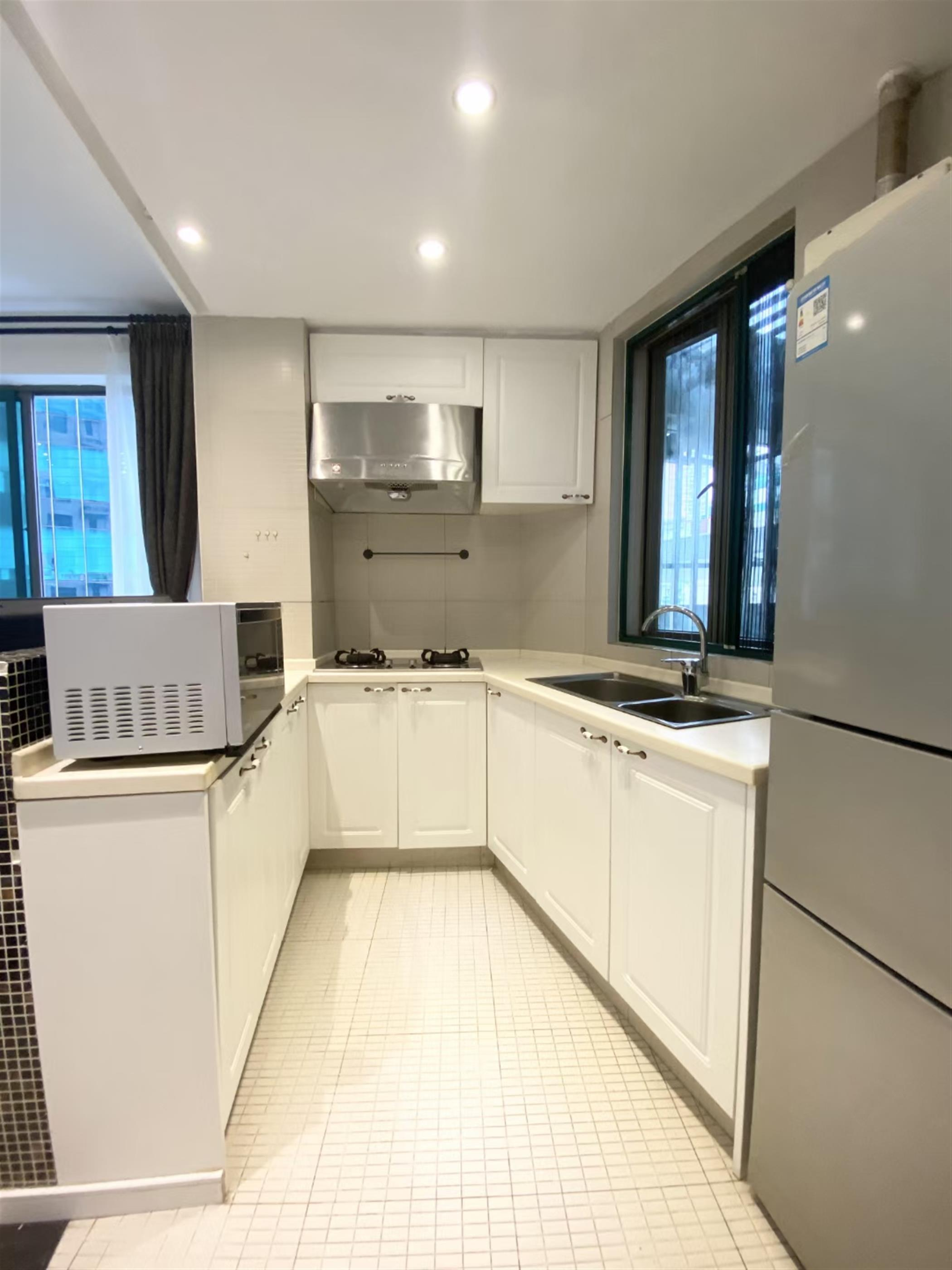New Kitchen Appliances Spacious Newly Renovated 2BR Top of City Apt Nr Ln 2/12/13 for Rent in Shanghai