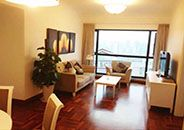 Big 1BR service apt with great view over Shanghai
